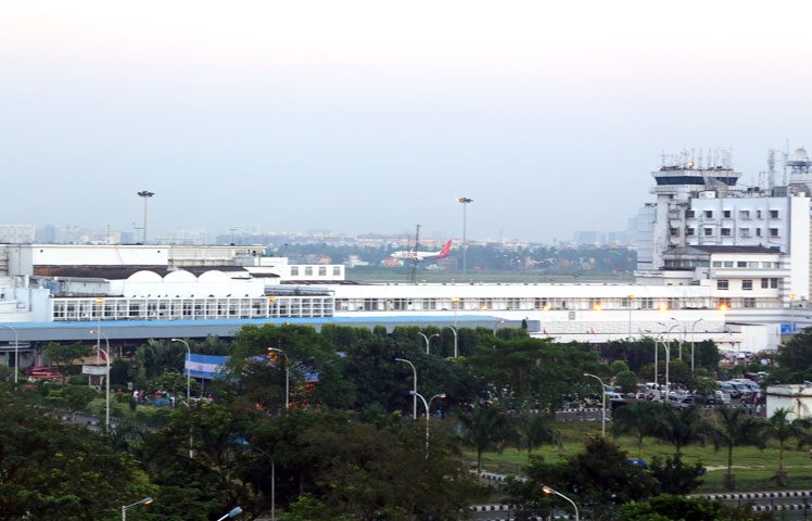 Airport View from Ethnotel Hotel