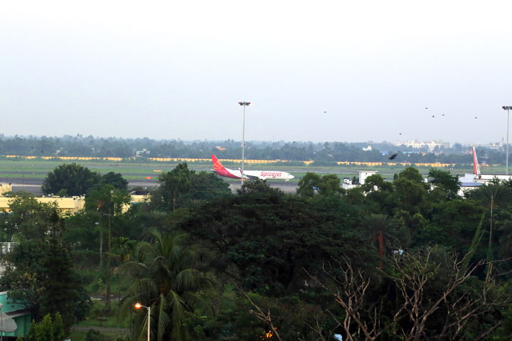 Airport View from Ethnotel Hotel Room